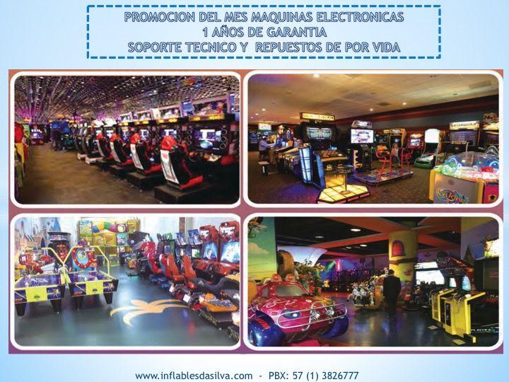 Gran catalogo de maquinas de videojuego y simuladores