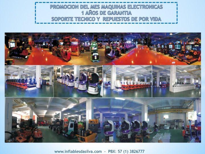 Somos fabricantes de simuladores y juegos mecanicos