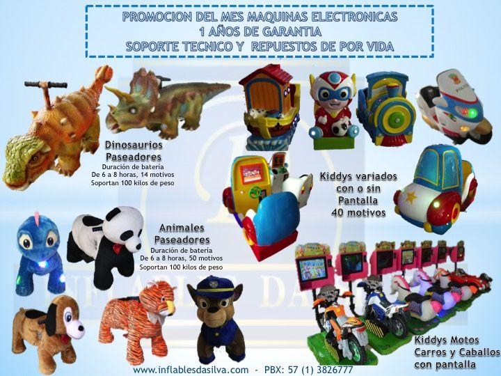 Venta de kiddies, montables infantiles y juegos mecanicos