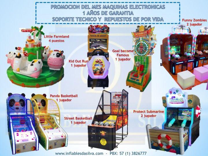 Maquinas de premios, redencion y juegos mecanicos