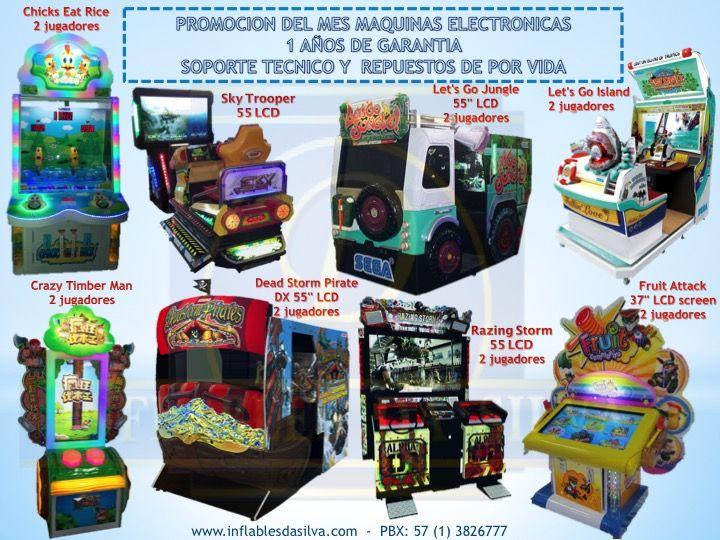 maquinas de redencion, juegos mecanicos y simuladores